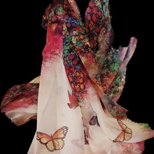 Butterfly Silk Scarf/Wrap